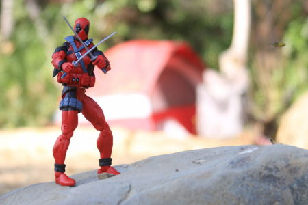 Deadpool goes camping
