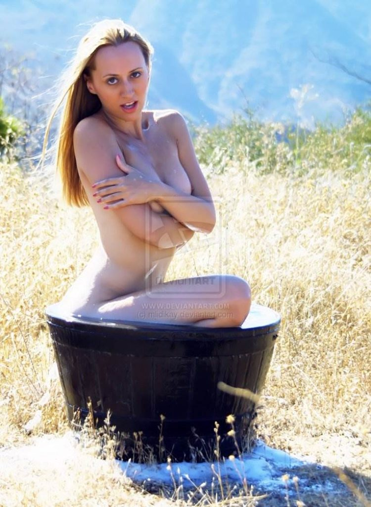 Malibu Hill implied nude bath